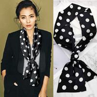 Piccola sciarpa di seta di modo delle donne di stampa del modello decorativo Streamers Thin Thin Sciarpe lunga e stretta imitazione Bandana