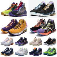 Herren Was The Lebron 17 Basketballschuhe Multi MVP Mut rotes Gold Miami Blue Cny Sneakers Tennis Outdoor-Schuhe