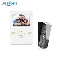 Видео дверные телефоны Jeatone 4 дюймовый домофон для домашнего комплекта системы безопасности с внутренним монитором Открытый 1200TVL дверной звонок