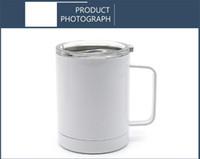 10Oz Sublimation Leerer Becher Wein-Tumbler mit Griff Wärmeübertragung Edelstahl-Vakuum-isolierte Kaffee-Milchbecher
