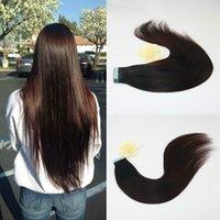 كبير المخزون أعلى جودة عذراء البرازيلي الشعر 100٪ الإنسان ريمي مزدوج الشعر مسحوب PU الشريط الشعر
