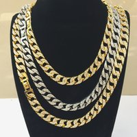 Mens Gold Miami Cuban Link Chains New Fashion Hip Hop Iced Out Chains Hiphop Necklace Jewelry