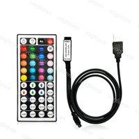 RGB Kontrolörleri 44Keys USB 1 M Tel 30 W 6A DC5V Ile Kızılötesi Alma Sensörü 2835 Şerit Modülleri Için Duvar Yıkama Lambası DHL