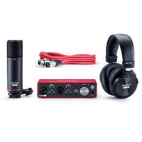 New Focusrite Scarlett 2II2 Studio 3RD Gen Pack Soundkarte Scarlett HP60 MkIII Kopfhörer Scarlett CM25 MkIII Mikrofon USB-Kabel (Typ C-A)