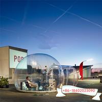 sala de 5m com túnel 2m luxuoso Limpar exterior do quintal transparente inflável Camping Início bolha Tent