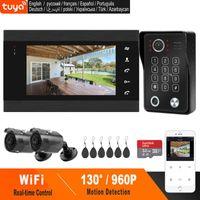 Video-Door-Telefone Homefong WLAN-Telefon Wifi Intercom Fingerprint-Entsperren Türklingel AHD 960P Outdoor-Kamera wasserdichte Unterstützung TUYA-App