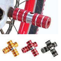 Педаль 2Pcs Алюминиевый Nonslip MTB велосипед передний задний мост Подножки BMX Подножка Lever цилиндр велосипед аксессуары