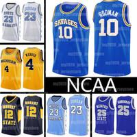 NCAA 10 Dennis Rodman Trikots Oklahoma Wilde College JA 12 Morant Lebron 23 James Vince 15 Carter High School North Carolina State