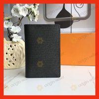 Mens borsa del portafoglio Top Leather Style Breve signore Holder Card Designer Banca di alta qualità della cassa di carta di polvere Bag Fashion Box mini borsa LD