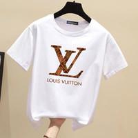 2020 Женская конструктор T Shirt женщин печатных Короткие летние мужские футболки женщин вскользь мужчин Роскошный дизайнерский бренд т-Шир