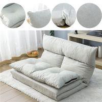 Современный дизайн 2020 складной шезлонг-лаундж пола диван-кровать диван с двумя подушками (серый) US сток быстрая доставка PP036318AAA