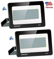 Proyector LED de la CA 85-265V SMD 100 W 200 W 300 W 400 W 500 W RGB de iluminación de inundación Spotlight impermeables Las acciones Gargen lámpara al aire libre + US