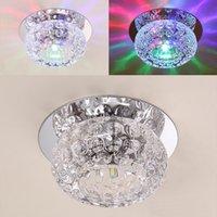 Abaixo de cristal Mordern embutida LED teto luzes 5W Corredor Espelho Teto lâmpada Aisle Veranda Iluminação para sala de estar