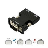 HDMI Kadın için VGA Erkek Dönüştürücü 3.5mm AUX Ses Kablosu Adaptörü ile 1080 P FHD Video Çıkışı PC Dizüstü Bilgisayar TV Monitör Projektör