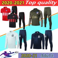 20 21 Spagna Atletico Madrid calcio manica lunga tuta Survêtement 2020 2021 Atletico Madrid kit di maniche corte POLO tuta JOÃO FÉLIX calcio fare jogging insieme sets
