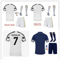 20 21 Men + kids kit Soccer Jerseys 2020 2021 Home away adult and boys Kit Maillot de foot custom name and number football shirt and short
