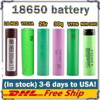 bateria 100% de qualidade superior Hg2 30Q VTC5 VTC6 25r NCR18650 lítio bateria 3400mAh 3000mAh 2600mAh 2500mAh para E cigarro mod recarregável