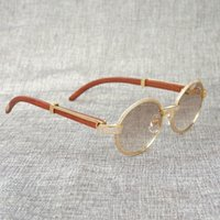 Buffalo Horn Diamond Sunglasses Wooden Eyeglasses Retro Shad...