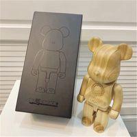 Домашняя мебель Модный 400% Bearbrick Toys 2020 Tokyo Olympics Деревянный медведь Строительный блок Медведь Декоративная модель Лимита