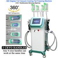 Profesyonel 360 Sreond Cryolipolysis Vücut Donduru Yağ Vücut Zayıflama Makinesi 4 Cryo Kolları Birlikte Çalışabilir CE Onaylandı