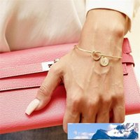 New Fashion Hot Rose Gold Silver Knotted 26 Letter Bracelet ...