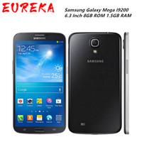 Original Unlocked Samsung Galaxy Mega I9200 GPS 6,3 Zoll GT-I9200 8MP 8GB ROM 1.5 GB RAM WiFi 4G Touchscreen