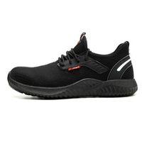 جديد المنتج تثليث شهادة CE شهادة الذكور أصابع القدم واقية من الانفجار العمل تشغيل الأحذية الرياضية الذكور مكافحة ثقب السلامة عدم الانزلاق