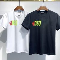 DSQ T 셔츠 Mens 디자이너 T 셔츠 블랙 화이트 남자 여름 패션 캐주얼 스트리트웨어 티셔츠 탑스 짧은 소매 크기 M-XXXL 3204