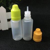 Gratis verzending PE Plastic flessen 15 ml met lange druppelaar tip en kinderproof cap e sap flessen 15ml voor rookolie e-vloeistof