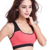 4 цвета Женщин Zipper Push Up Спорт бюстгальтеры, проложенного Wirefree противоударного Gym Фитнес Спортивного Бег Йога Жилет Спортивный Tops