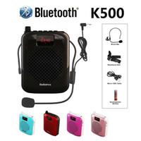 K500 Microphone Bluetooth haut-parleur portable Auto Pairing USB de charge amplificateur de voix Mégaphone Haut-parleur Pour l'enseignement