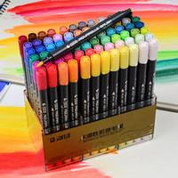 STA المزدوج فرشاة مقرها مياه العلامة مع الأقلام مع Fineliner TIP 12 24 36 48 لون مجموعة ألوان مائية علامات ناعمة للفنانين الرسم Y200709