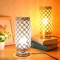 Oro / Argento di cristallo moderna scrivania tavolo luminoso lampada accanto notte della lampada E27 del supporto di Decorazione Camera regolabile Illuminazione per interni