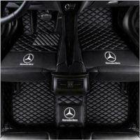 Mercedes benz W204 W205 C200 C300 C350 C6Luxury için uygundur özel türlü hava su geçirmez ve kaymaz araba paspasları toksik olmayan ve tatsız
