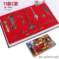Model Oyunu LOL Oyunu Anahtar Metal İttifak Anahtarlık Alaşım Silah Aksesuarları 2.7-9 cm Ligleri Kahraman Anahtarlıklar Mücevher Bıçak Hediyelik Eşya Çocuklar için XXLI