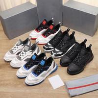 Männer Cloudbust Sneakers Hohe Qualität Twist Technische Stoff Turnschuhe Echtleder Low-Top-Läufer-Schuhe EVA Gummisohle mit Box EU45