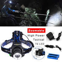 3 MODI 380000LM Taktische Keblick Upgrade Wiederaufladbare T6-LED-Scheinwerfer Zoomable 2x 18650 Batterie + Ladegerät