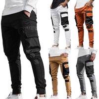 Mode Streetwear Hommes multi poches Cargo sarouel Hip Hop Pantalons simple Homme piste Harajuku Joggers Pantalons