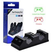 PS4 / 프로 / 슬림 무선 컨트롤러 충전기 자석 미니 USB 포트를 들어 적색 녹색 LED 표시 등과 도킹 스테이션을 충전