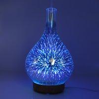 العطر مصابيح 3D الألعاب النارية زجاج مرطب ملون LED الليل الخفيفة الانحدار الروائح آلة المنزلية من الضروري النفط الناشر YL43