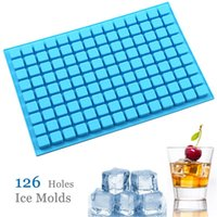 126 Lattice Square Ice Molds Tools Jelly Baking Silicone Party Mold Decorating Chocolate Cake Cube Tray Candy Kitchen Free DHL