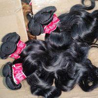 Go with love 20pcs/lot bulk brazilian human hair black Malaysian temple wefts wavy straight fashional style beautiful extensions