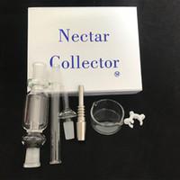 Kit Nectar Collector con il set chiodo del metallo 10 millimetri 14 millimetri 18 millimetri nettare collettore rigs tubo di vetro tubi di acqua di vetro DHL libero negli