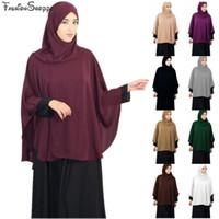 Tampa completa Muslim Women Prayer Shawl Niquab lenço longo khimar Hijab Islam grande sobrecarga roupa hijab Ramadan Oriente Médio árabe