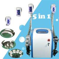 5 in 1 Hot Verkauf Zeltiq Fat Einfrieren Maschine Cavitation + RF + Körpergesichtskörper-RF + 40K + Lipo-Laser-Maschine Kryotherapie Schlankheits-Maschine