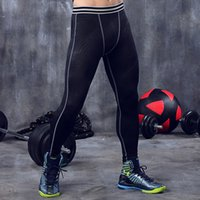 Mens Pants Tight Quick-drying Breathable Leggings Polyester Slim Fit Compression Pant