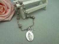 Cristiano pegatinas Icono ortodoxo plástico Elasticidad pulsera de la joyería pulsera cruzada de Jesús Religión accesorios de regalo de Navidad