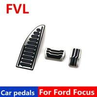 pedais do carro para Ford Focus 2 3 4 MK2 MK3 MK4 2005 -2017 Accelerator pedal de freio Pedal Footrest Pedal