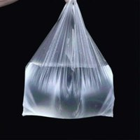 100Pcs Портативные Прозрачные сумки Супермаркет Пластиковые пакеты с ручкой хозяйственная сумка Упаковка Мешок 15-26cm / 20-30см / 24-37cm