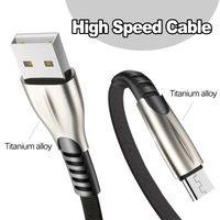 Titan-Legierung Highspeed 2.4A USB-Kabel Schnelles Ladegerät Micro-Typ C-Ladekabel 1m 2m 3m